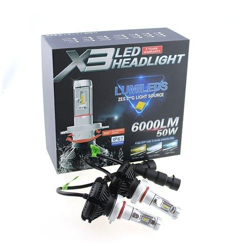 Car LED Headlamp Kit UP-X3HL-9004W(HB1) (6000 lm) Preview 1
