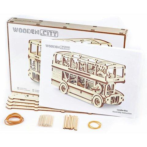 Механический 3D-пазл Wooden.City Лондонский автобус